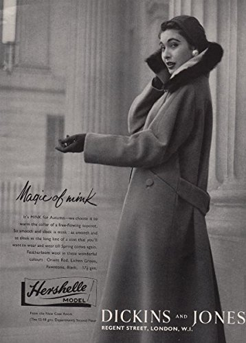 hershelle-model-dickins-and-jones-magic-of-mink-coat-fashion-advert-1955-old-print-antique-print-vin