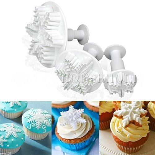 Set di 3 tagliapasta con estrattore Fiocco di Neve Cake design