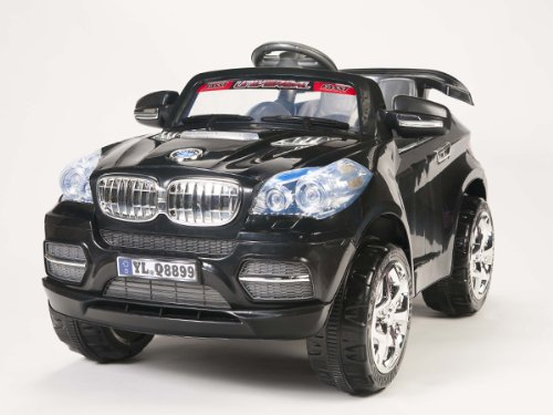 New 2013 Upgraded Model AUTOBAHN BLACK 12V ELECTRIC POWER SUV KIDS RIDE ON JEEP CAR MP3 Connection RC BIG WHEELS