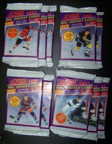 Sale alerts for Upper Deck/Konami score 1991 nhl hockey card packs, unopened - Covvet