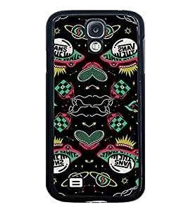 Fuson Premium 2D Back Case Cover Vans of walls With blue Background Degined For Samsung Galaxy S4::Samsung Galaxy S4 i9500