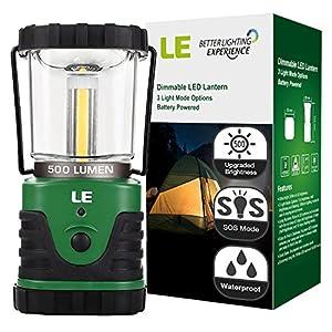 LE 500lm Lanterne de camping LED,Torche ultra lumineuse, lumière d'urgence , lampe portable pour les activités extérieures, Télescopique Etanche, parfait pour Bivouac/ tentes/ maison/ camping/ chasse/ pêche/randonnée
