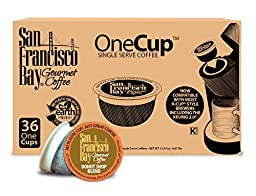San Francisco Bay OneCup, Donut Shop Blend, 36 Single Serve Coffees (Packaging May Vary)