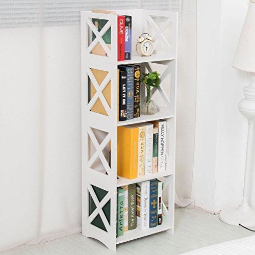 Dline - White Wood&Plastic Storage Shelf - Bookcase (4C) (Foldable Display Shelves compare prices)