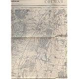 CARTE GEOGRAPHIQUE DE COLMAR - N°86 / REVISEE EN 199 - LEVVE PAR LES OFFICIERS DU CORPS D'ETAT MAJOR ET PUBLIEE...