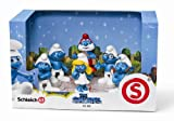 SMURFS 3D MOVIE 6 FIGURE SET Papa Smurf, Smurfette, Brainy, Grumpy, Clumsy, Gutsy