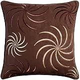 "Swirl Chocolate Cushion Cover 45x45cm (18"")"