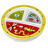 SugarBooger Divided Suction Plate, Icky Bugs