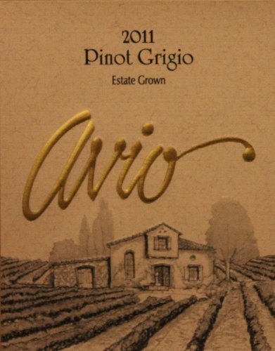 2011 Avio Vineyards Estate Grown Sierra Foothills Pinot Grigio 750 Ml
