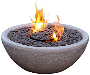 Real Flame Hampton Fire Bowl, Gray