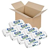 Scott Flushable Wipes, Fragrance-Free, 8 Soft Packs with 408 Wet Wipes Total (Pack May Vary)