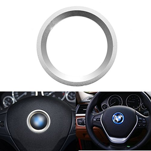 AUDEW Car Steering Wheel Center Decoration Ring Cover For BMW 1 3 4 5 7 Series New Silver (Wheel Cover Ring compare prices)