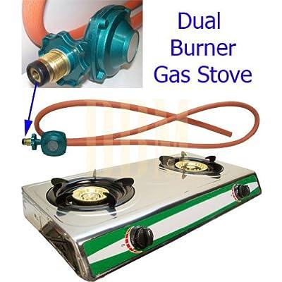 Amazon Com Portable Propane Gas Stove 2 Double Burner