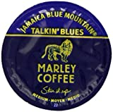 Marley Coffee Talkin Blues Coffee, 100% Jamaica Blue Mountain, Single Serve RealCup for Keurig K-cup Brewers, 24 Count Coffee Machine