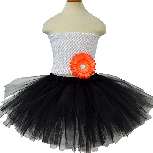 Liliany Dance Girls' Tutu Fairy Skirt Petticoat with Flower Tube-tops