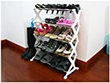PNDIA DIY Portable shoe Organiser rack holder 15 pairs