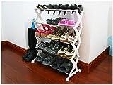 PNDIA DIY Portable shoe Organiser rack holder 15 pairs