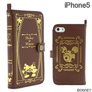 Book Case for iPhone 5 (Mickey & Minnie): Cell Phones & Accessories