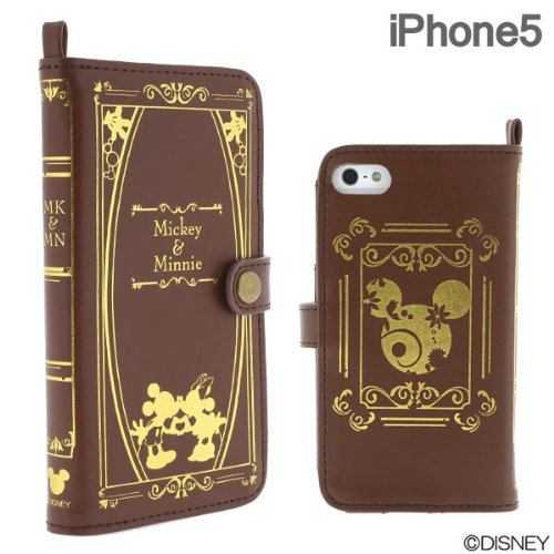 Special Sale Disney Character Old Book Case for iPhone 5 (Mickey & Minnie)