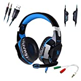 KOTION EACH G2000 Headset 3.5mm Plug Wired Headphone Gaming Earphone Bass Noise Canceling Isolating With Microphone...
