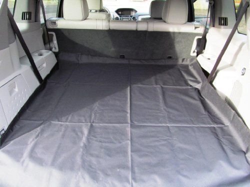 Pawhut Universal Back Seat Cover / Cargo Liner For Pets - Black front-302608