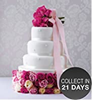 Romantic Pearl Gluten Free Fruit Wedding Cake (White icing)
