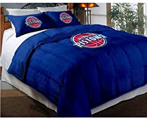 NBA Detroit Pistons Twin Full Sized Comforter with Shams by Northwest