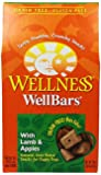 Wellness WellBars Natural Wheat Free Oven Baked Dog Treats, Lamb & Apple Biscuits, 20-Ounce Box