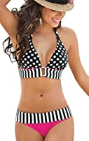 Femme Sexy Push Up Maillot de Bain Bikini Set Beachwear Avec Dots