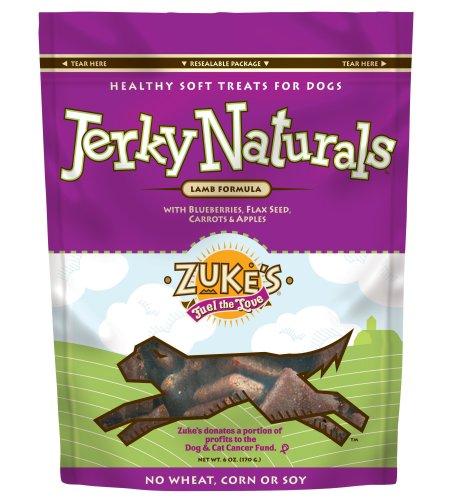 Zuke's Jerky Naturals Dog Treats, Lamb, 6-Ounce