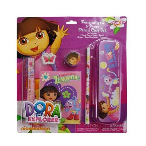 Dora 6pc Pencil Case Set on Blister Card