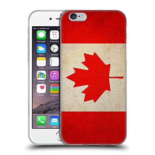 Head Case Designs Canada Canadian Vintage Flags Soft Gel Back Case Cover for Apple iPhone 6 4.7 (Canada I Phone 6 Cover compare prices)
