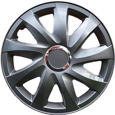 Radkappen grau 14 Zoll 1 Satz (4 Stück) mit Chromring von Autoteile024 - Reifen Onlineshop