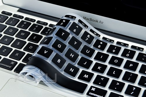 $$  Kuzy - AIR-11inch BLACK Keyboard Cover Silicone Skin for MacBook Air 11.6