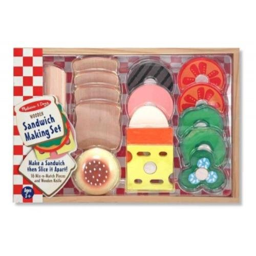 Sandwich Making Set: 16 Mix-N-Match Pieces And Wooden Knife front-1051582