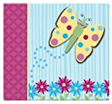 MBI by MCS Industries Top Load 12-Inch by 12-Inch Page Scrapbook with 3-D Raised Characters, Butterfly , 13.2 x 12.5 Overall