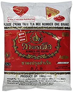 1 X The Original Thai Iced Tea Mix ~ Number One Brand Imported From Thailand! 400g Bag Great for Restaurants That Want to Serve Authentic and High Quality Thai Iced Teas. by Number One Brand