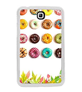 Colourful Doughnuts 2D Hard Polycarbonate Designer Back Case Cover for Samsung Galaxy Tab 3 8.0 Wi-Fi T311/T315, Samsung Galaxy Tab 3 8.0 3G, Samsung Galaxy Tab 3 8.0 LTE