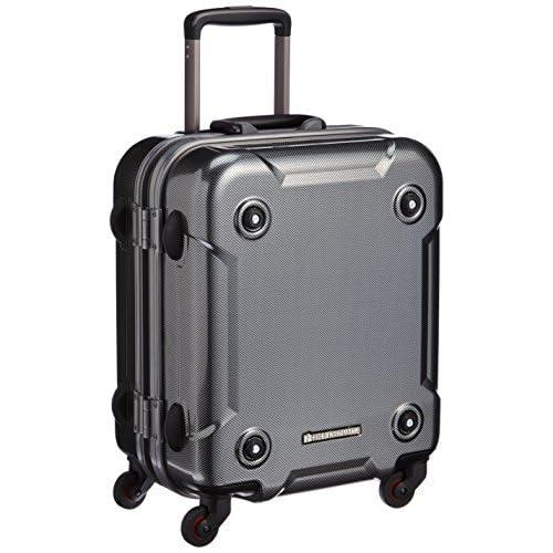 [ヒデオワカマツ] HIDEO WAKAMATSU スタックS TSAロック カーボンスーツケース 45.5cm 85-75964 04 (カーボンシルバー)