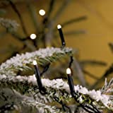 180x MICRO LED NATURAL/WARMER WHITE fairy lights, 12.5m, Christmas Festive - 3632-110 - Konstsmide