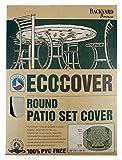 Mr. Bar-B-Q Backyard Basics Eco-Cover PVC Free Premium Round Patio Set Cover