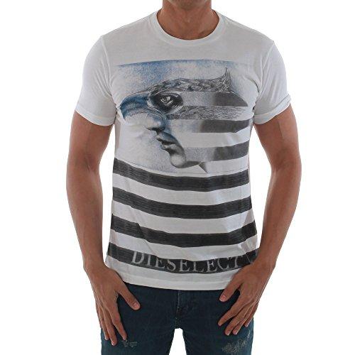 Diesel -  T-shirt - Maniche corte  - Uomo bianco Large