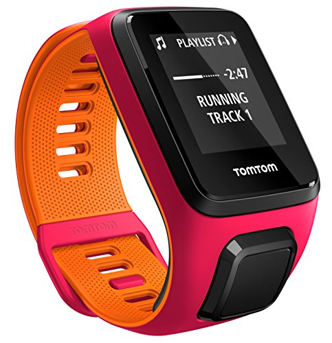 TomTom - RUNNER 3 Cardio + Music - Montre de Sport GPS - Bracelet Fin Fushia/Orange (ref 1RKM.001.02)