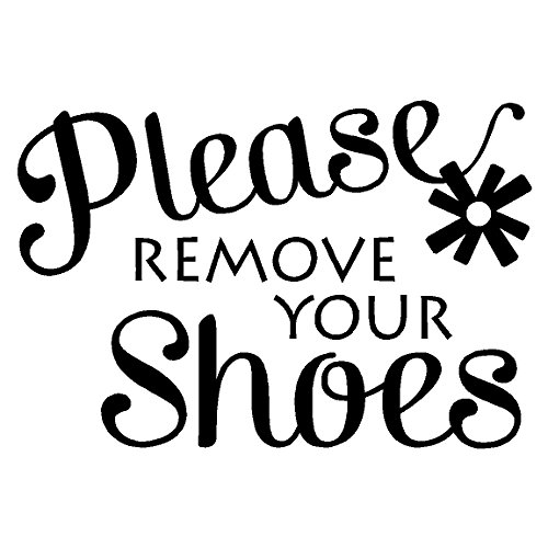 Please Remove Your Shoes...Entryway Home Wall Decal Foyer Quote Vinyl Words Sayings Removable Home Lettering, Black 12