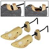 AMOS 2 x Frauen Damen Schuhspanner aus Holz Einstellbar Schuhdehner Schuhweiter Schuhleisten Expander für Größen 34 - 46