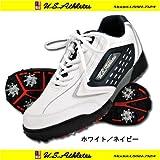 USAT ゴルフスパイクレスシューズ USSH-7124 ホワイト/ネイビー 24.5cm