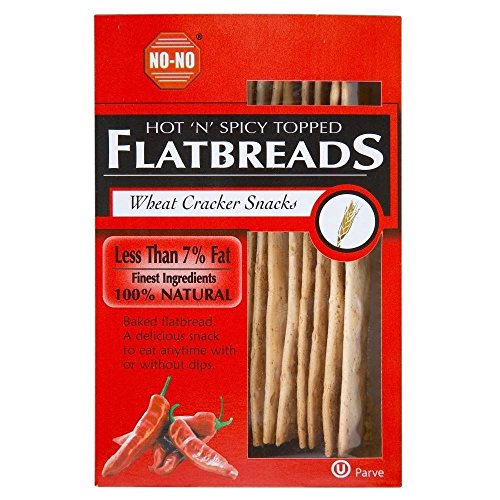 No-No Fat Free Hot ' N' Spicy Gekrönt Flache Brote (125G)