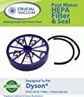 Crucial Vacuum Dyson DC07 DC14 Post-Motor HEPA Filter Plus Gasket Seals Fits ALL Dyson DC07
