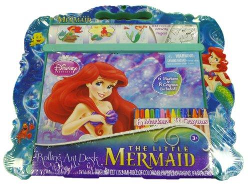 Disney Princess The Little Mermaid Rolling Art Desk