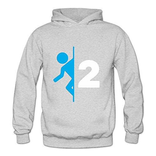 NNKEY Women's Long Sleeve Portal 2 Sweatshirt Hoody Ash M